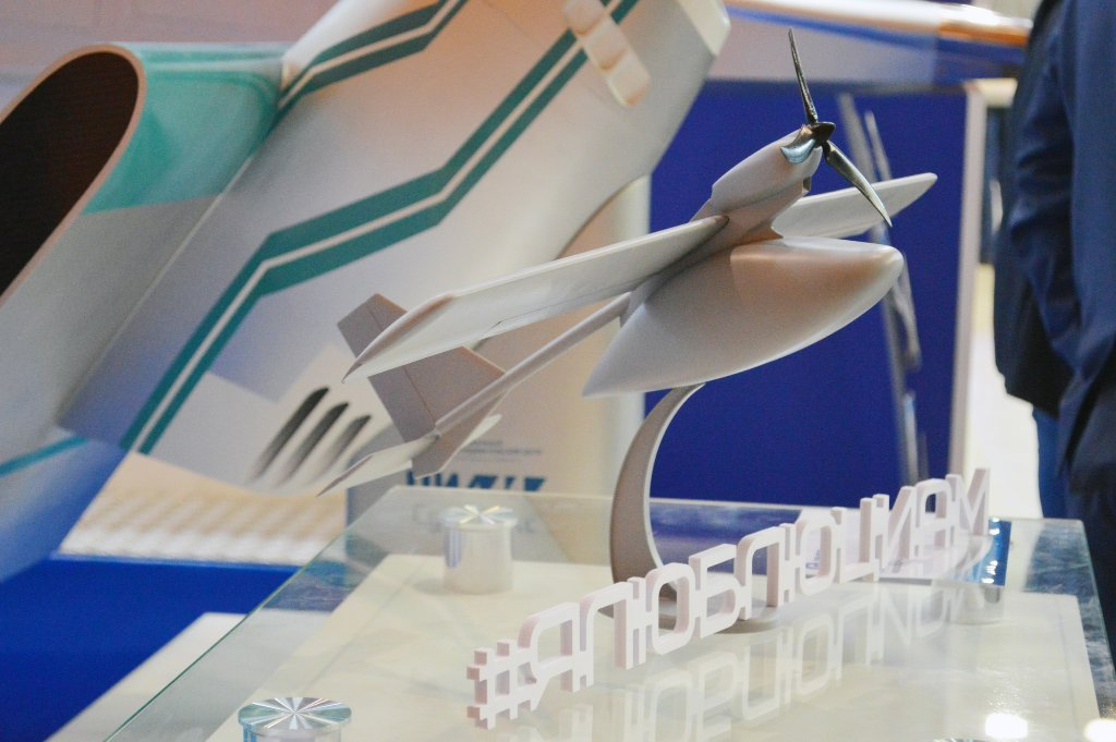 A model of TsIAM's electric aircraft technology demonstrator